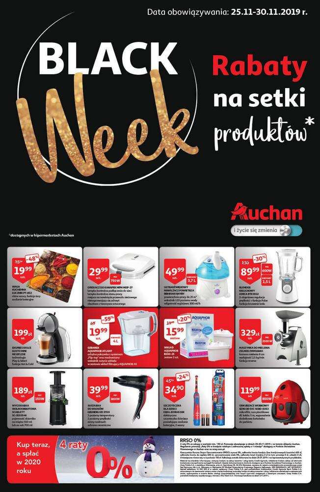Auchan gazetka Black Friday