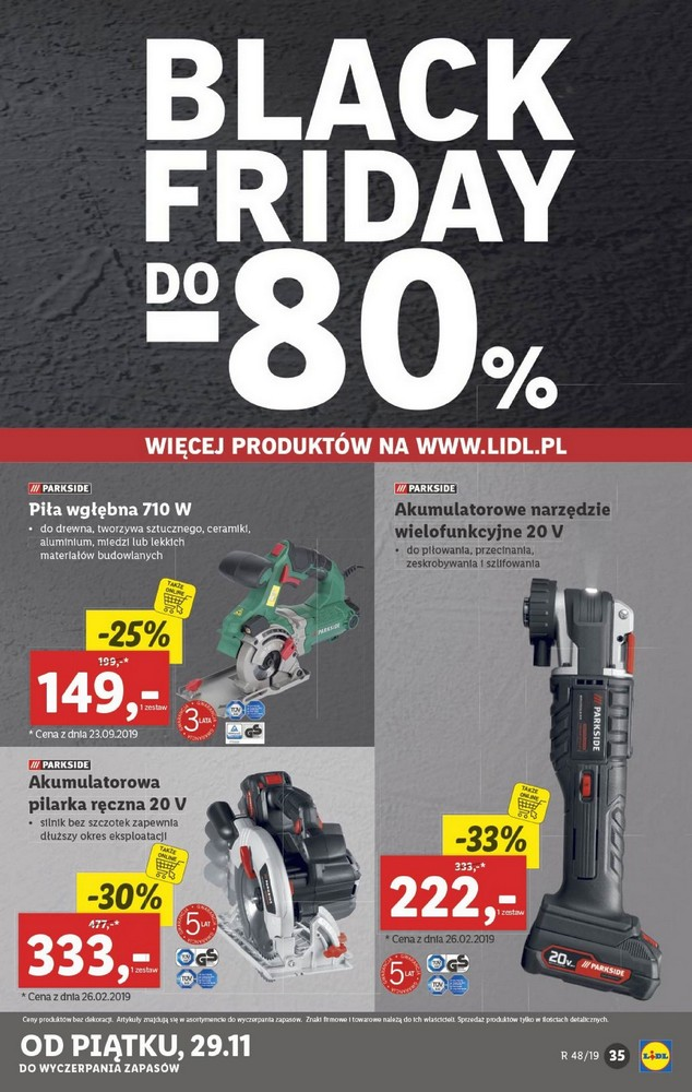 Lidl gazetka Black Friday