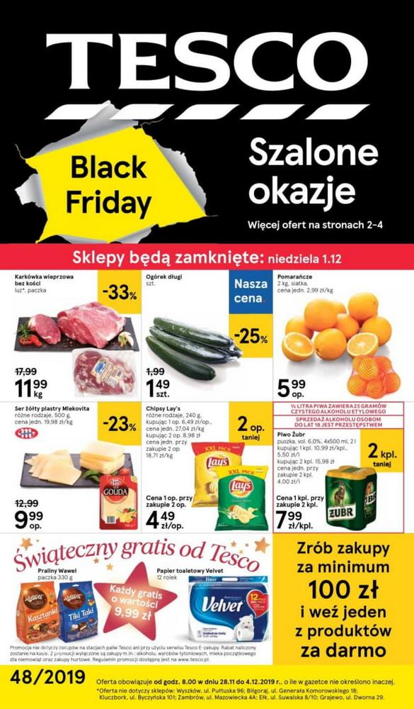 Tesco gazetka Black Friday